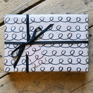 Black And Kraft Wrapping Paper