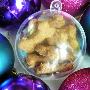 Anya's Personalised Dog Treat Christmas Bauble - food, feeding & treats