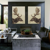 Stag Off, Canvas Art - prints & art