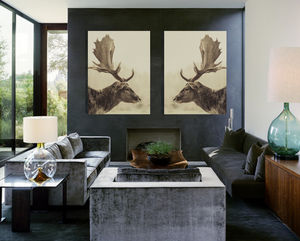 Stag Off, Canvas Art - canvas prints & art