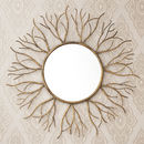 Bronzed Gold Twig Mirror