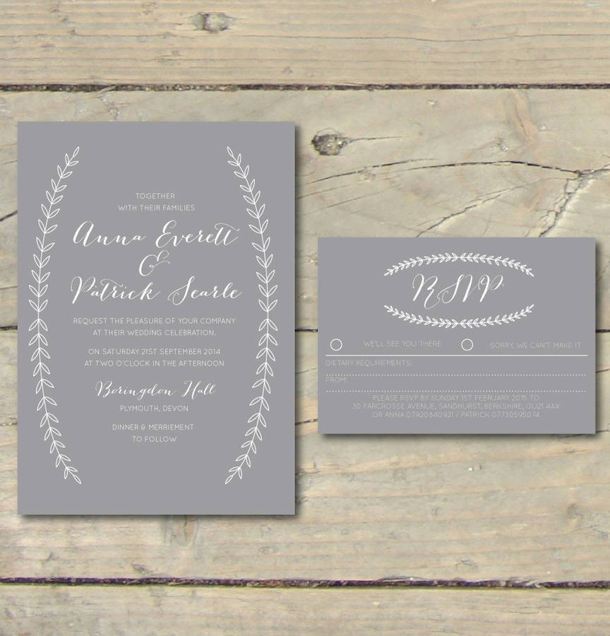 Boho Graceful Calligraphy Wedding Invitations By Sincerely