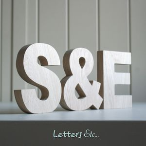 Wooden Letters Chunky - outdoor decorations