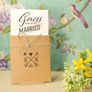 Guess Who Wedding Invitation - wedding stationery