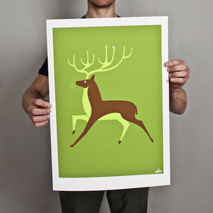 Stag Print - limited edition art