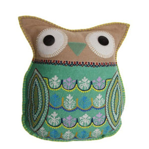 Wool Owl Cushion