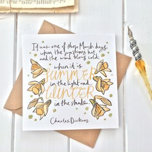 Charles Dickens March Birthday Card