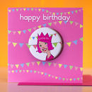 Birthday Girl Badge Card