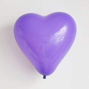 10 Purple Heart Balloons - valentine's day decorations