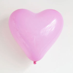 10 Pink Heart Balloons - valentine's day decorations