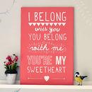'I Belong With You' Lumineers Print