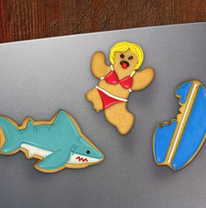 Shark Attack Cookie Cutters - cookie cutters