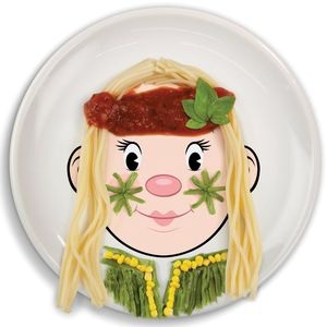 Design Your Own Miss Face Food Plate - crockery & chinaware