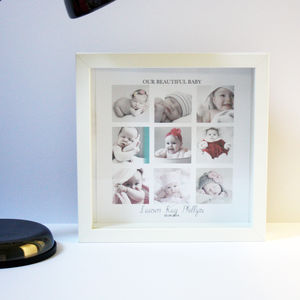 Personalised Baby Girl Collage Print