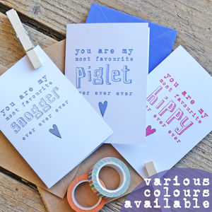Personalised 'You Are My Favourite…' Card - valentine's cards