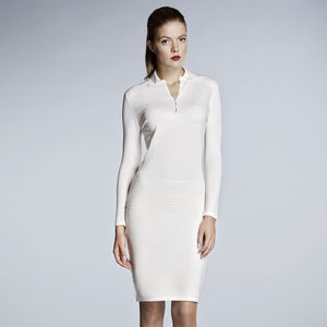 Ivory Soft Merino Wool Dress - women's fashion