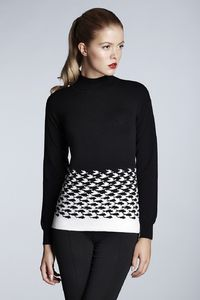 Soft Black Merino Wool Jumper