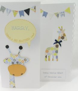 Personalised Baby Giraffe Card