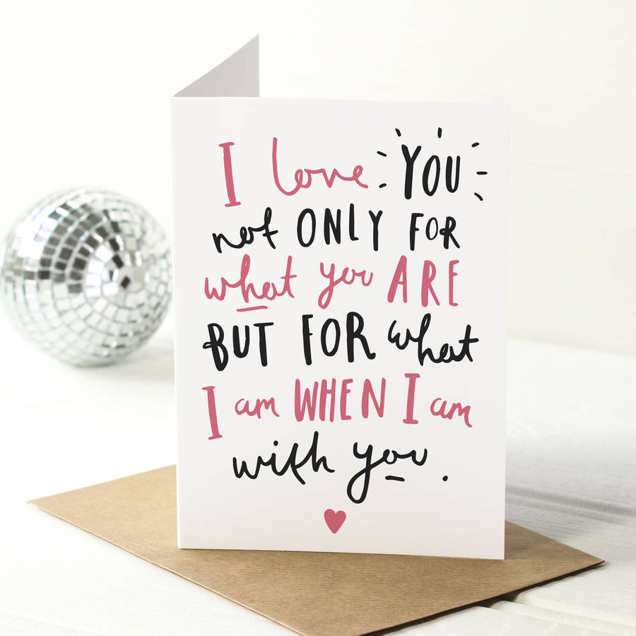 I Love You Quote Valentineu0027s Day Card