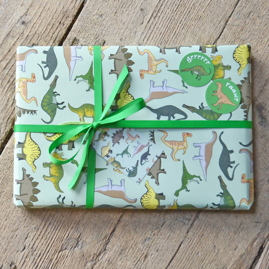 Dinosaur Wrapping Paper By Becka Griffin Illustration Notonthehighstreet Com