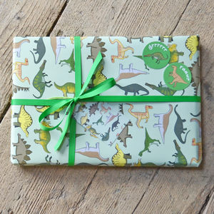 Dinosaur Wrapping Paper - on trend: dinosaurs