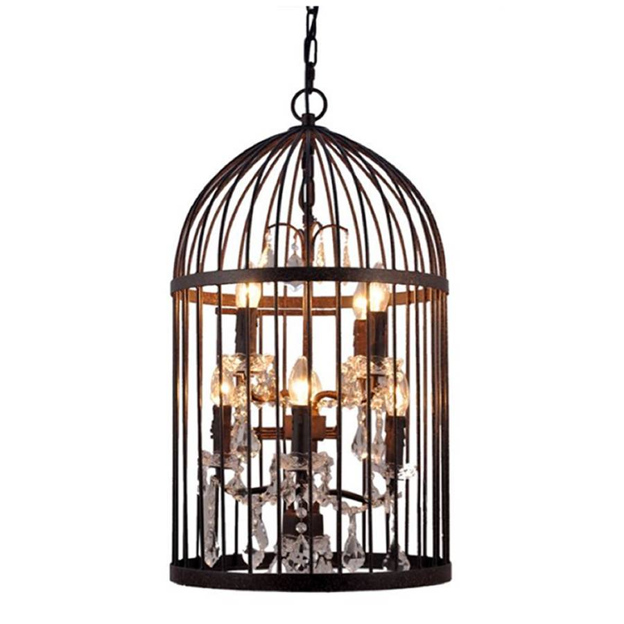 bronze eight light birdcage chandelier by cowshed. Black Bedroom Furniture Sets. Home Design Ideas