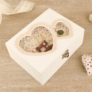 Wooden Sewing Box With A Double Heart Lid - view all sale items