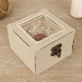 French Style Heart Trinket Couture Box