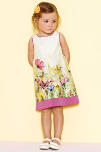 Girl's Amy Print Dress - flower girl fashion