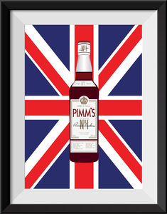 'Number One Pimm's Drinkers' Personalised Print