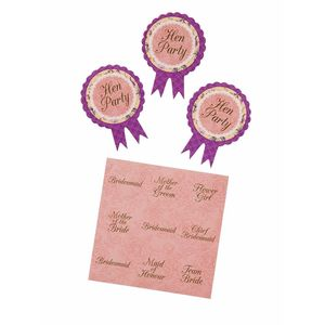 Hen Party Guest Badges - hen party styling
