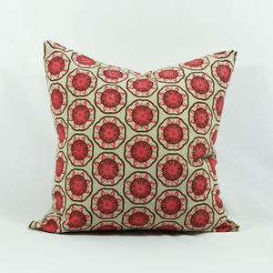 Pink Blockflowers Cushion Cover