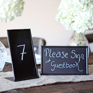 Blackboard Sign Free Standing - table numbers