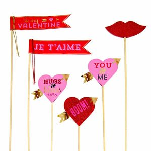 Love Themed Props And Flags - cake toppers & decorations