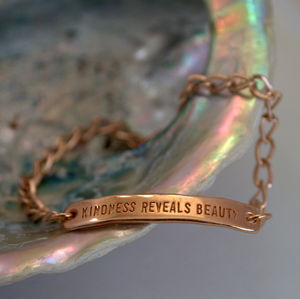 Kindness Reveals Beauty Rose Gold Bracelet - bracelets & bangles