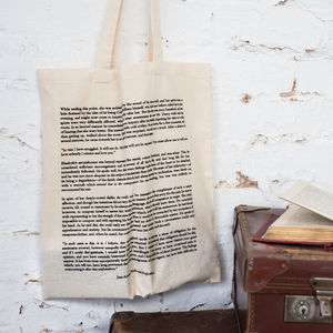 Pride And Prejudice Cotton Book Bag - bags & purses