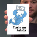 'Lobster' Personalised Valentine's Day Scratch Card