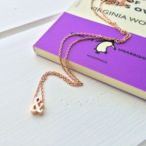 Ampersand Rose Gold Necklace - necklaces & pendants