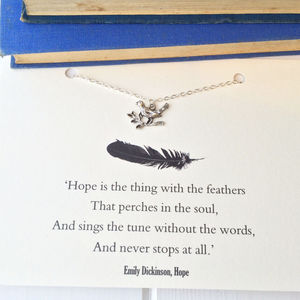 Emily Dickinson 'Hope' Bird Necklace - necklaces & pendants