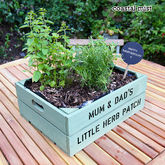 Personalised Medium Crate With Herb Seeds - garden