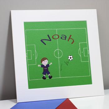 Football Name Print Personalised