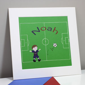 Football Name Picture, Fine Art Print