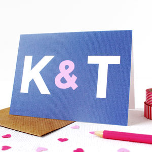 Personalised 'Ampersand' Wedding Card