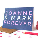 Personalised 'Forever' Valentines Card