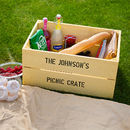 Personalised Wooden Storage Crate