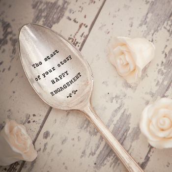 Vintage Silver Plated Engagement Spoon