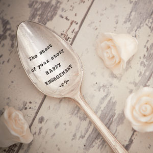 Vintage Silver Plated Engagement Spoon - engagement gifts