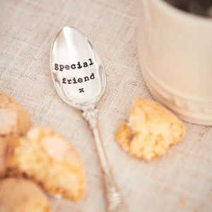 'Special Friend' Silver Plated Vintage Spoon - spoons