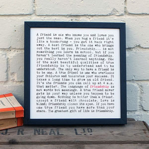 Friendship Gift; Small Print