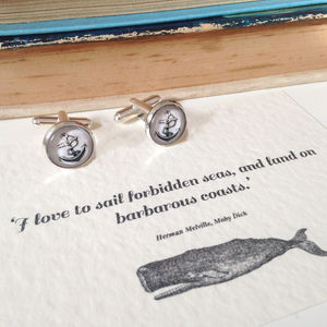 'I Love To Sail' Anchor Cufflinks - cufflinks